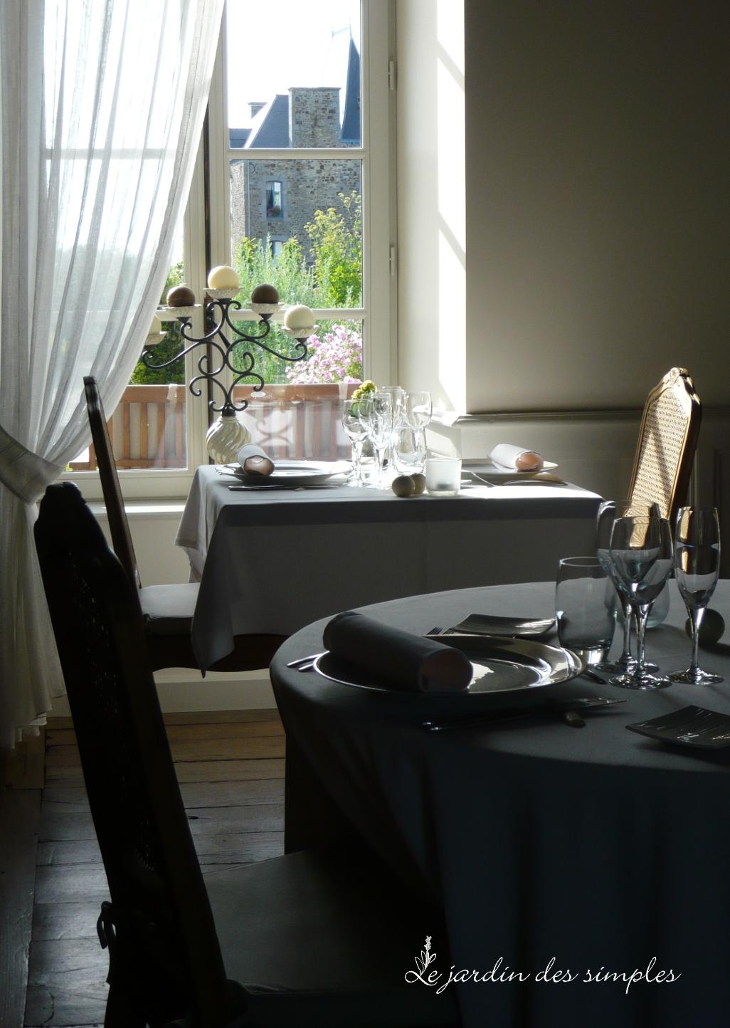 Table raffin e en baie du mont saint michel pr s de saint malo for La table du jardin