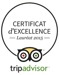Certificat d'Excellence Lauréat 2015 Tripadvisor France Bretagne