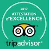 Attestation d'Excellence 2017 Tripadvisor France Bretagne